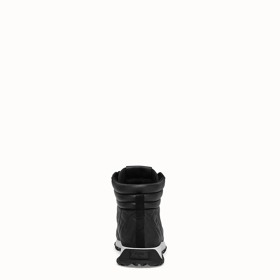 FENDI SNEAKER - High top in pelle nera - vista 3 dettaglio