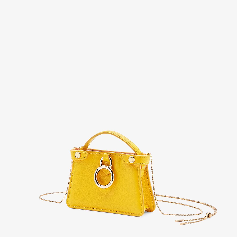FENDI NANO PEEKABOO CHARM - Yellow nappa leather charm - view 2 detail