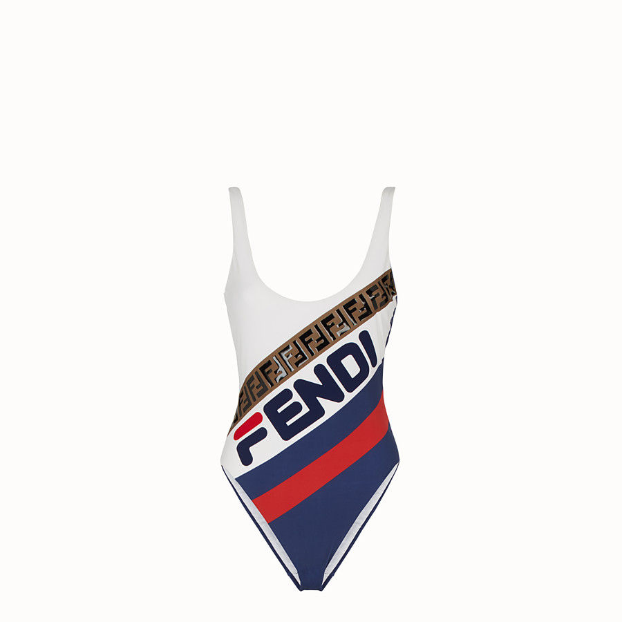 FENDI ONE-PIECE SWIMSUIT - Multicolour Lycra one-piece swimsuit - view 1 detail
