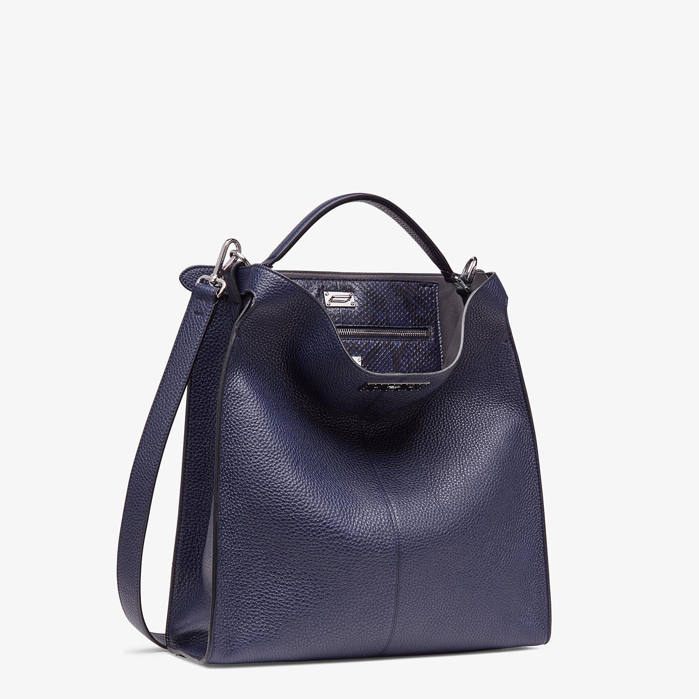 FENDI PEEKABOO X-LITE FIT - Blue calf leather bag - view 3 detail