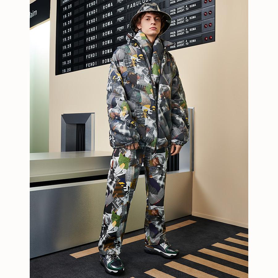 FENDI SCARF - Multicolour cashmere and nylon scarf - view 3 detail