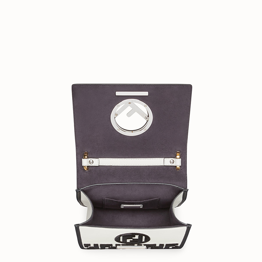 FENDI KAN I F SMALL - White leather minibag - view 4 detail