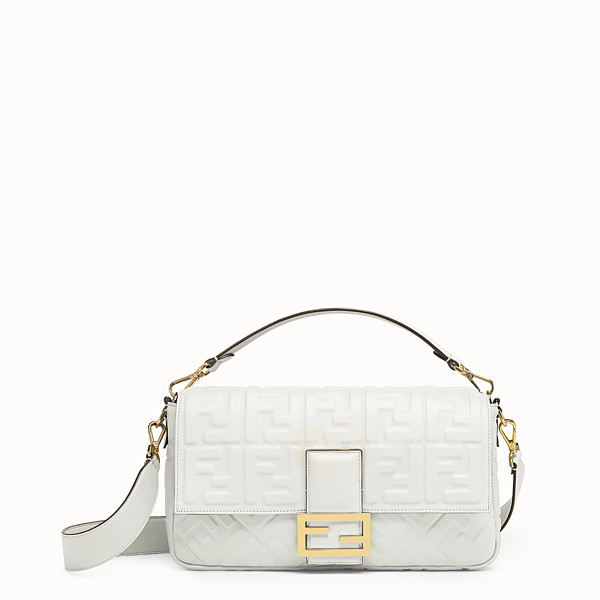 FENDI BAGUETTE LARGE - White leather bag - view 1 small thumbnail