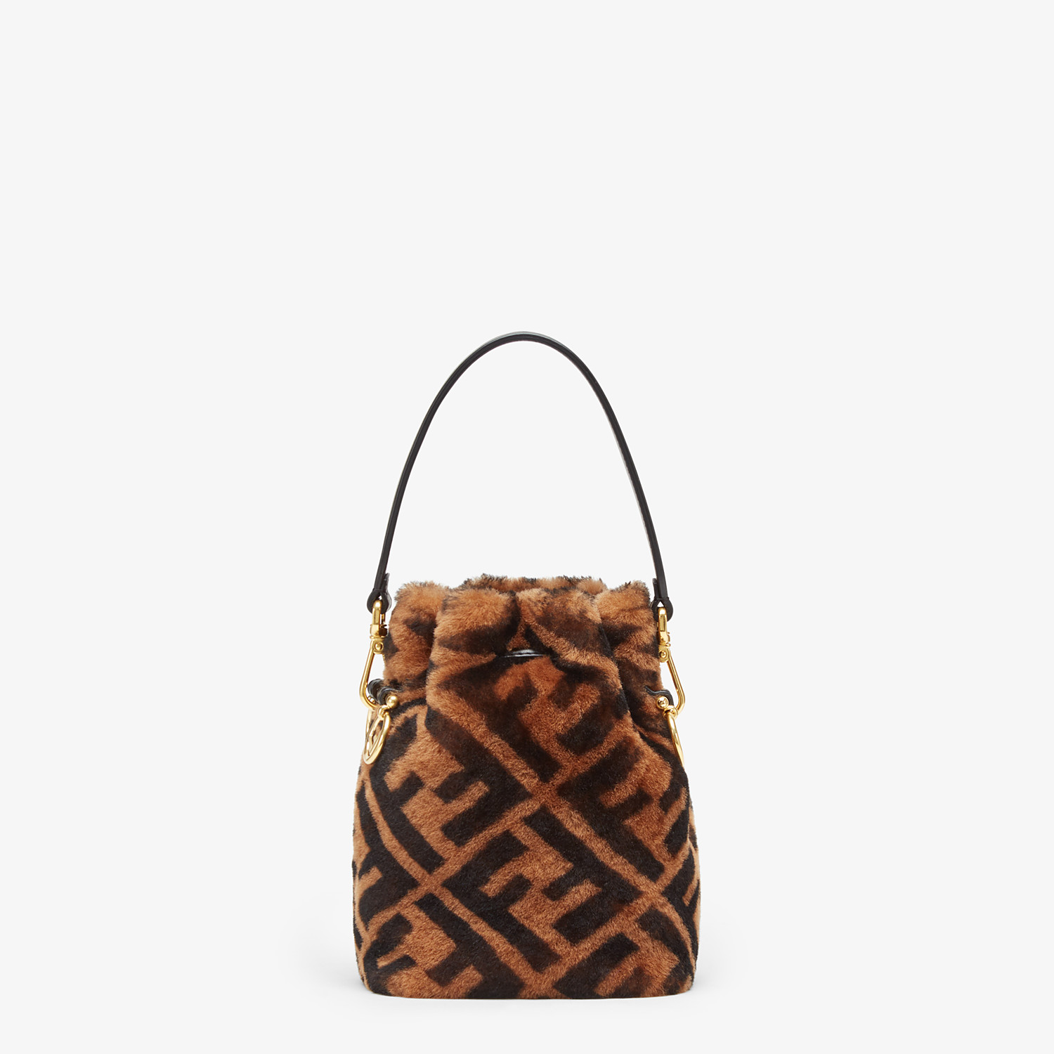 FENDI MON TRESOR - Mini-bag in brown sheepskin - view 4 detail