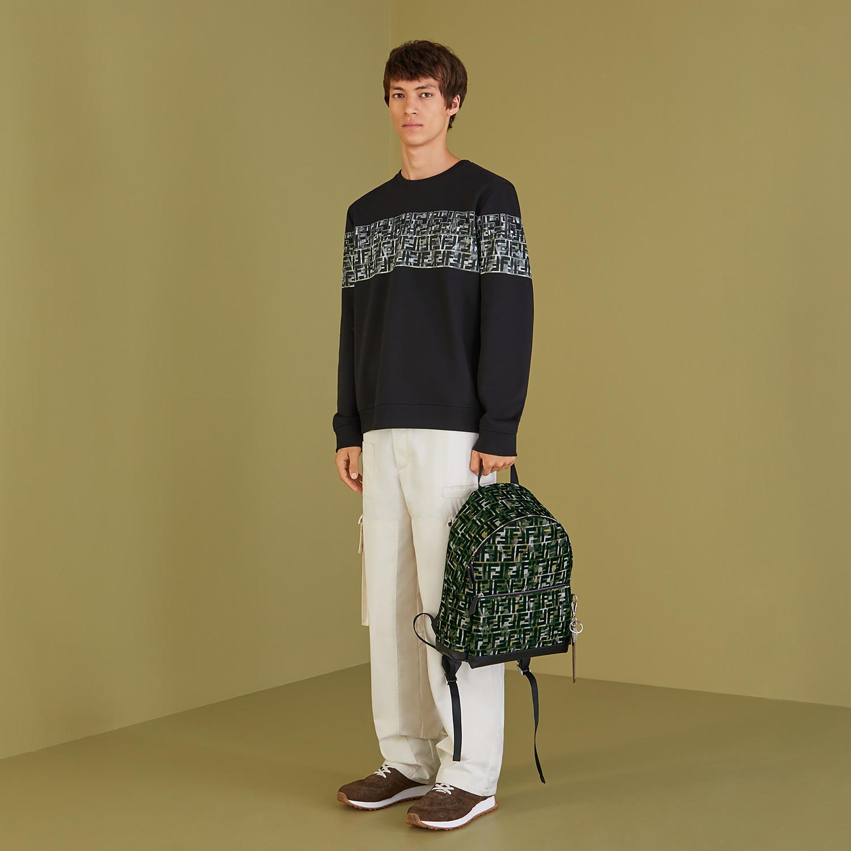 FENDI BACKPACK - Multicolor nylon backpack - view 5 detail