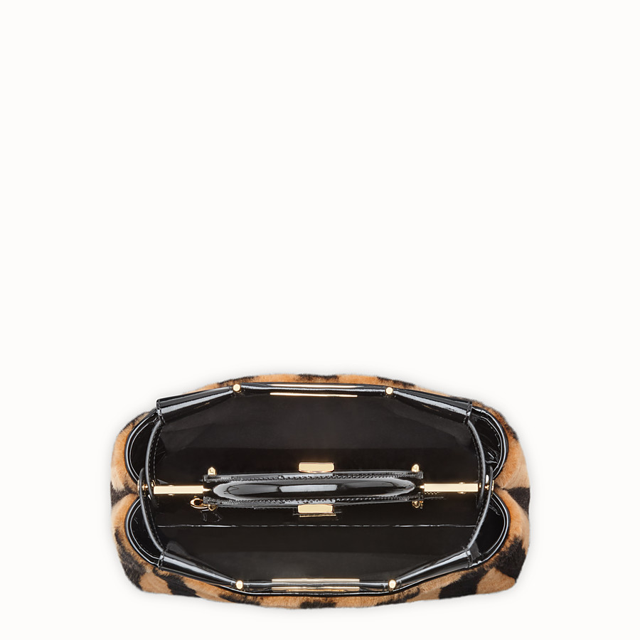 FENDI PEEKABOO ICONIC MEDIUM - Multicolour sheepskin and vinyl bag - view 6 detail