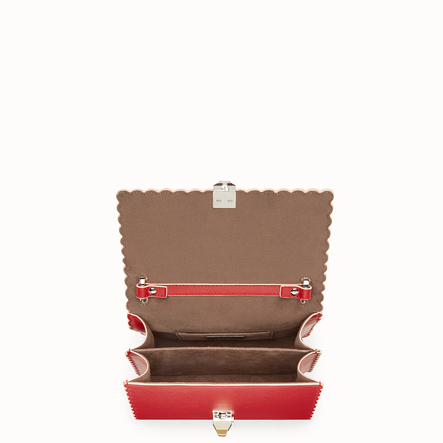 FENDI KAN I SMALL - Red leather mini-bag - view 4 detail