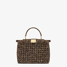 FENDI PEEKABOO ICONIC MINI - Jacquard fabric interlace bag - view 4 thumbnail