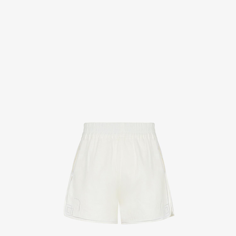 FENDI SHORTS - Natural hemp fabric shorts - view 2 detail