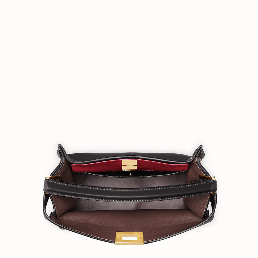 FENDI PEEKABOO X-LITE REGULAR - Black leather bag - view 5 detail