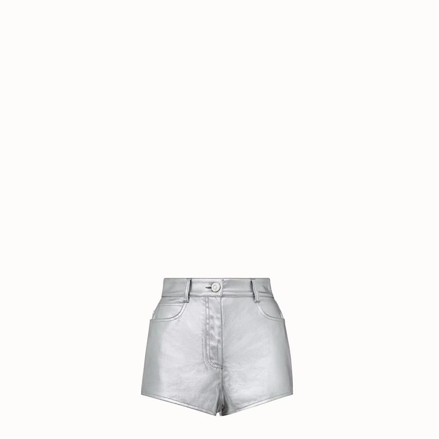 FENDI SHORTS - Fendi Prints On denim shorts - view 1 detail