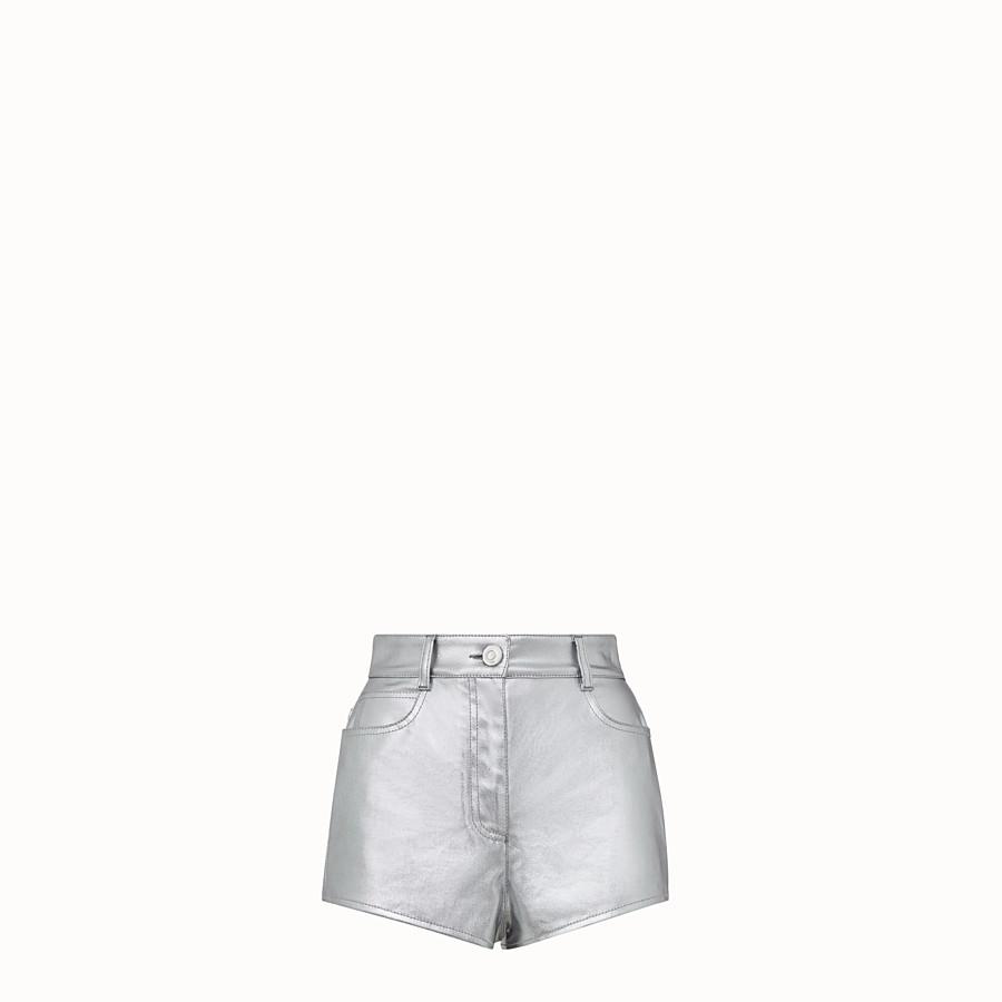 FENDI SHORTS - Fendi Prints On denim shorts - view 1 detail