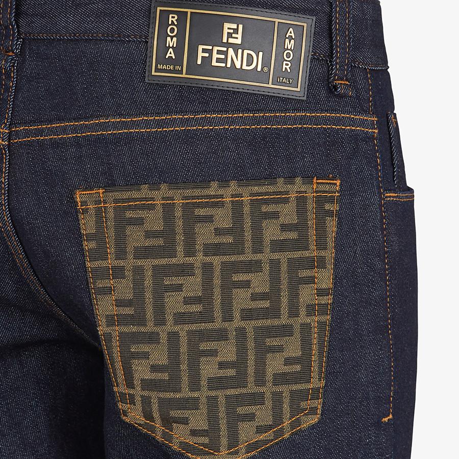 FENDI DENIM - Blue denim jeans - view 3 detail