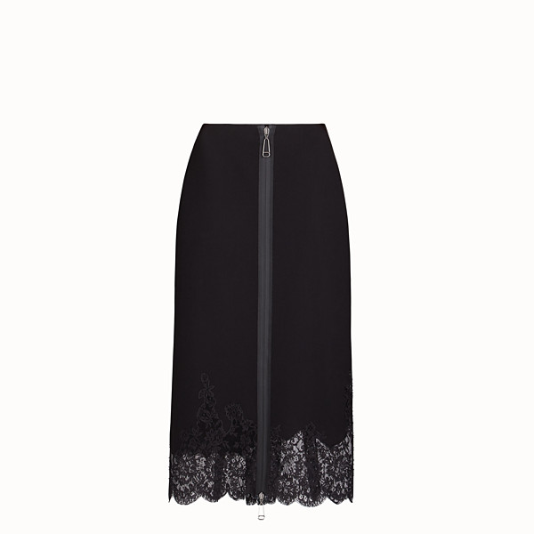 FENDI SKIRT - Black wool skirt - view 1 small thumbnail