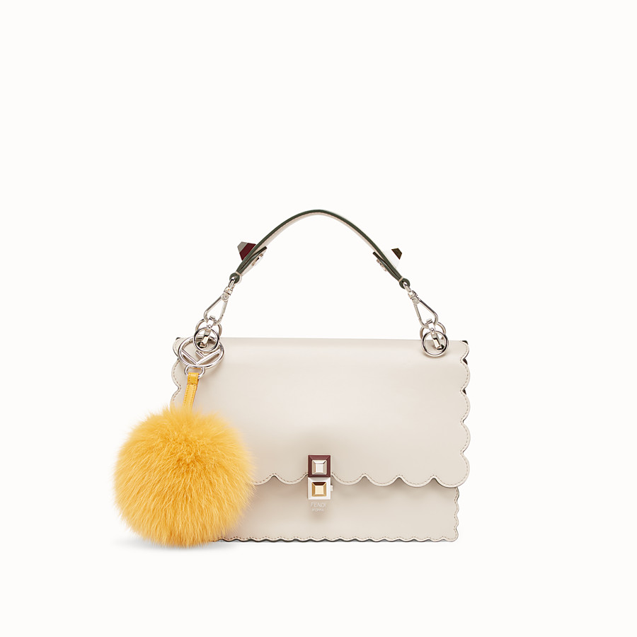 FENDI POM-POM CHARM - Yellow fox fur charm - view 2 detail