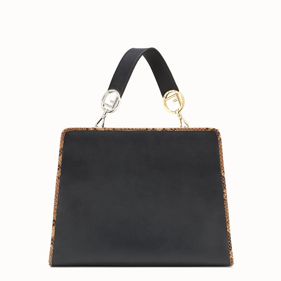 FENDI RUNAWAY REGULAR - Exotic black leather bag - view 3 detail