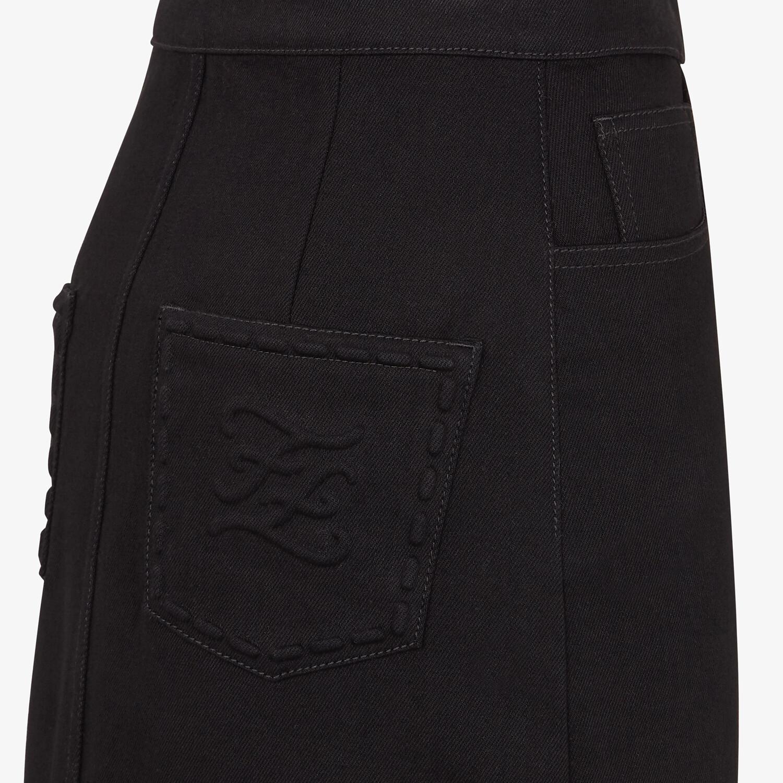 FENDI SKIRT - Black denim skirt - view 3 detail