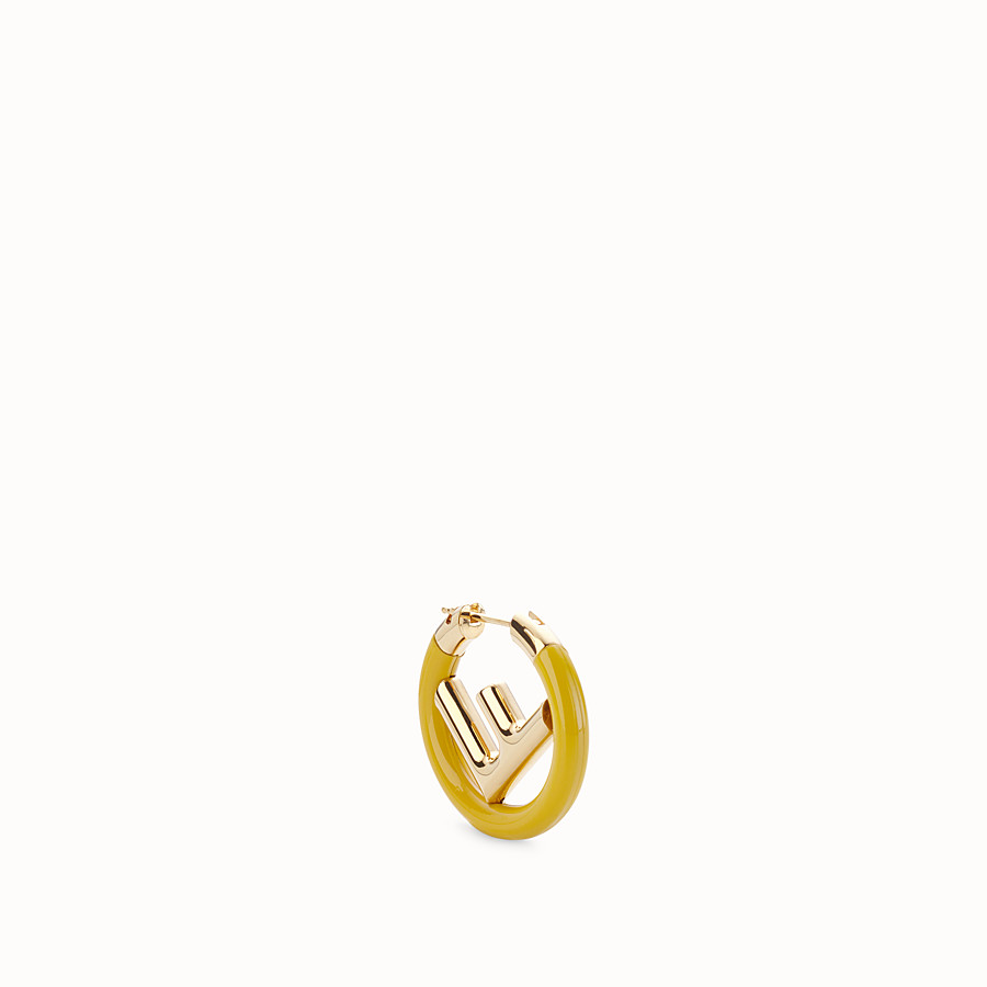FENDI F IS FENDI EARRING - Gold and yellow coloured earring - view 1 detail