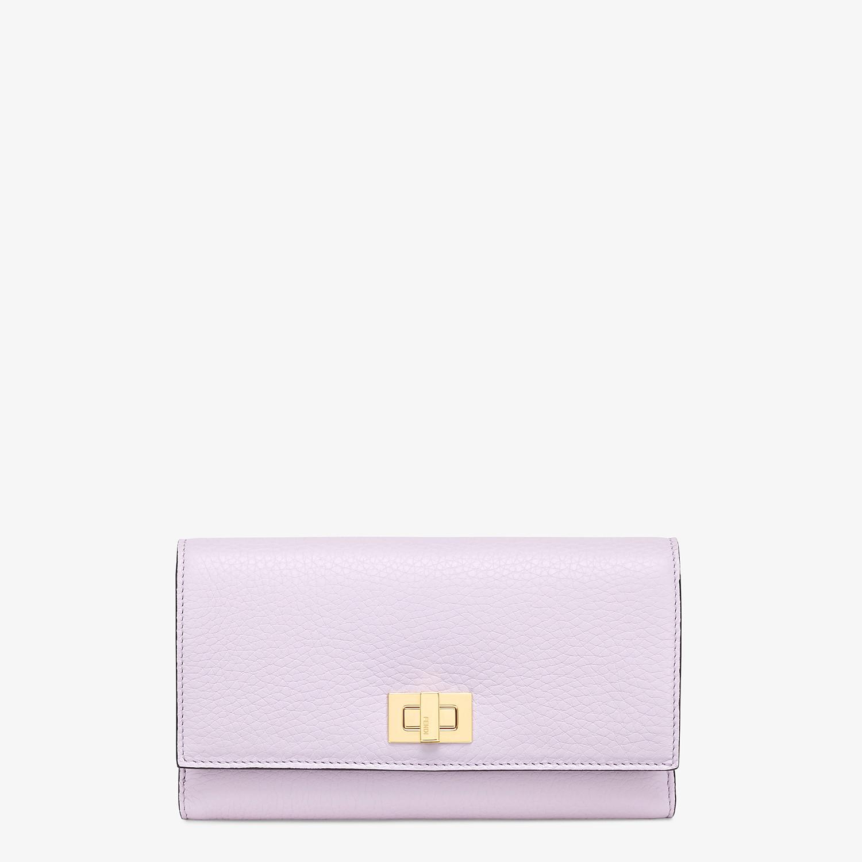 FENDI 三つ折り財布 - ライラックレザー 財布 - view 1 detail