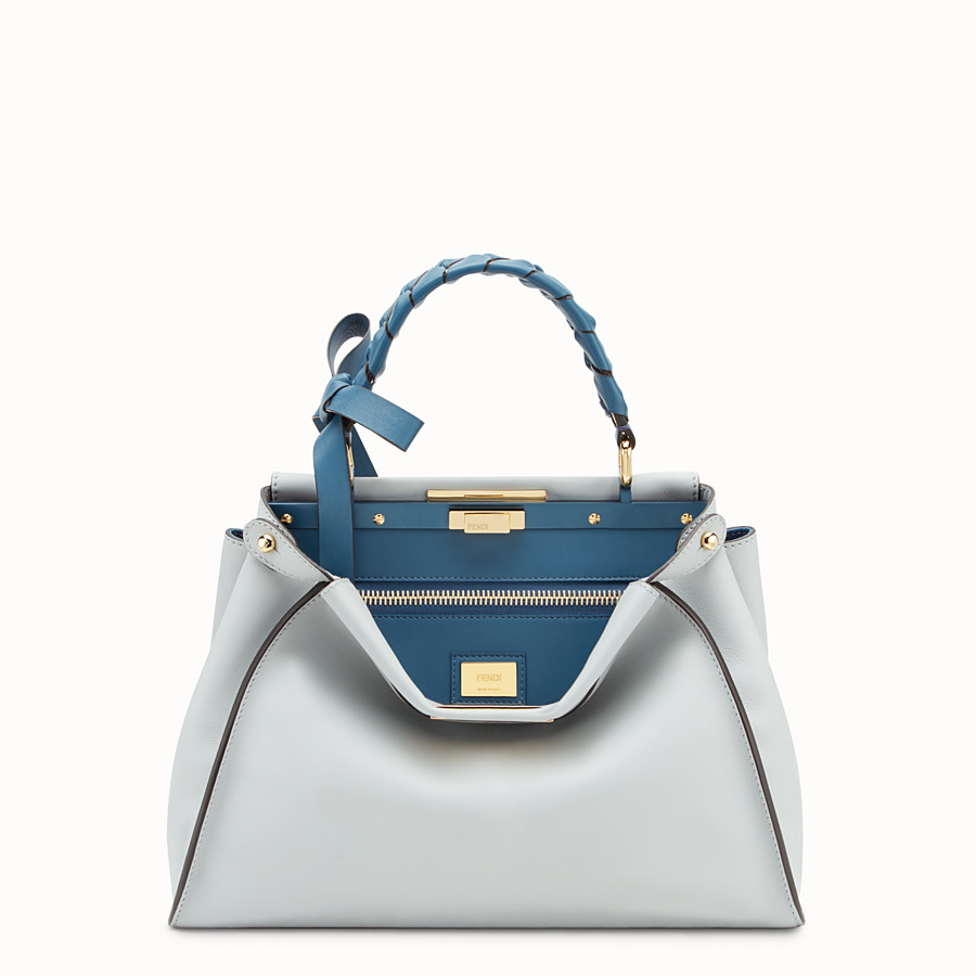 FENDI PEEKABOO REGULAR - Sac en cuir gris - view 1 detail