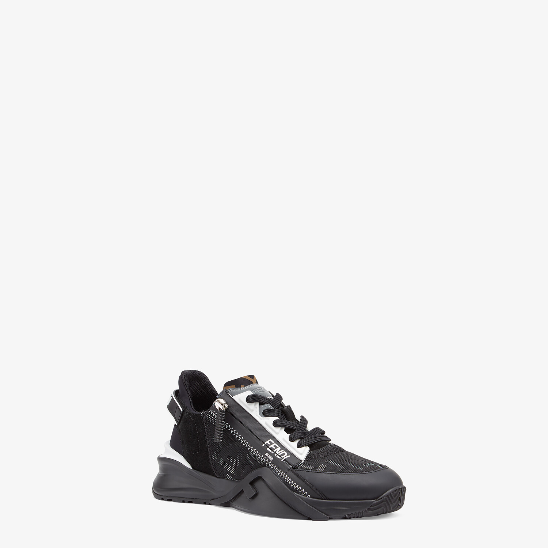 FENDI FENDI FLOW - Black nylon and leather low-tops - view 2 detail