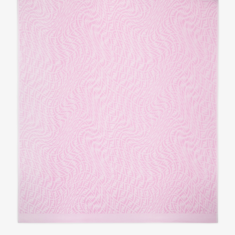 FENDI BEACH TOWEL - Pink fabric beach towel - view 3 detail