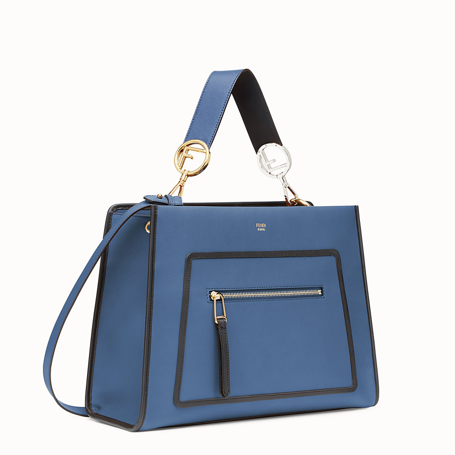 FENDI RUNAWAY REGULAR - Blue leather bag - view 2 detail