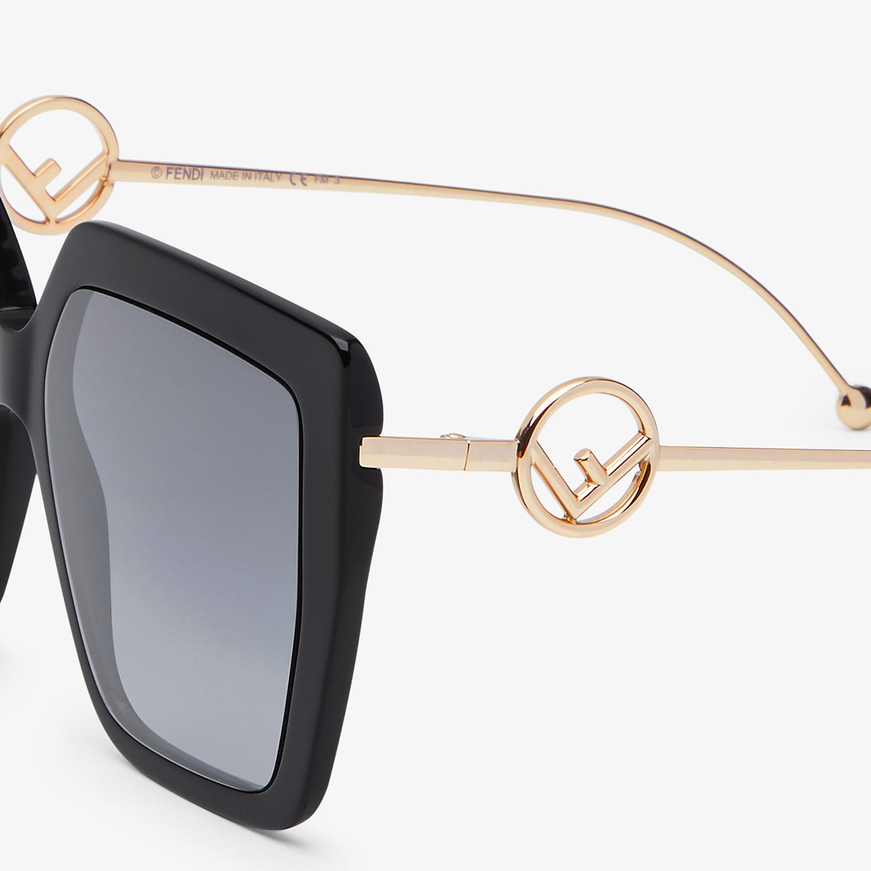 FENDI F IS FENDI - Black acetate and metal sunglasses - view 3 detail