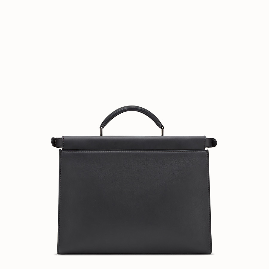 FENDI PEEKABOO FIT - Smooth black leather bag - view 3 detail