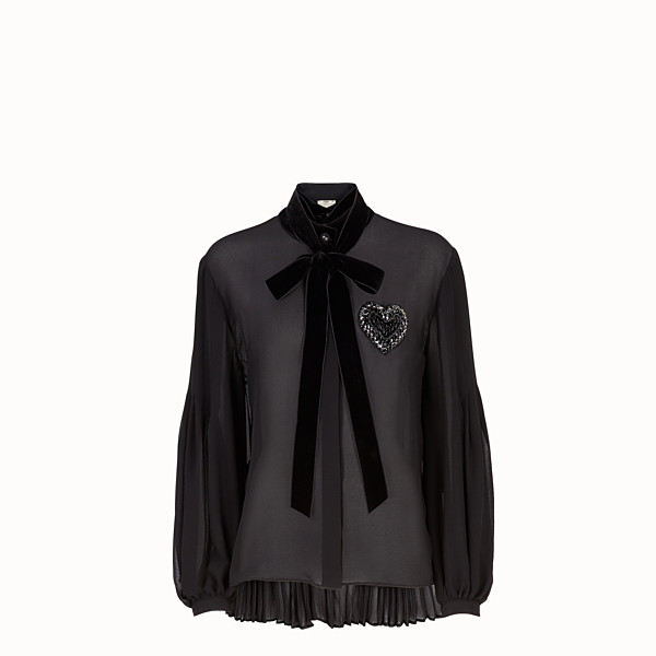 FENDI BLOUSE - Black silk blouse - view 1 small thumbnail