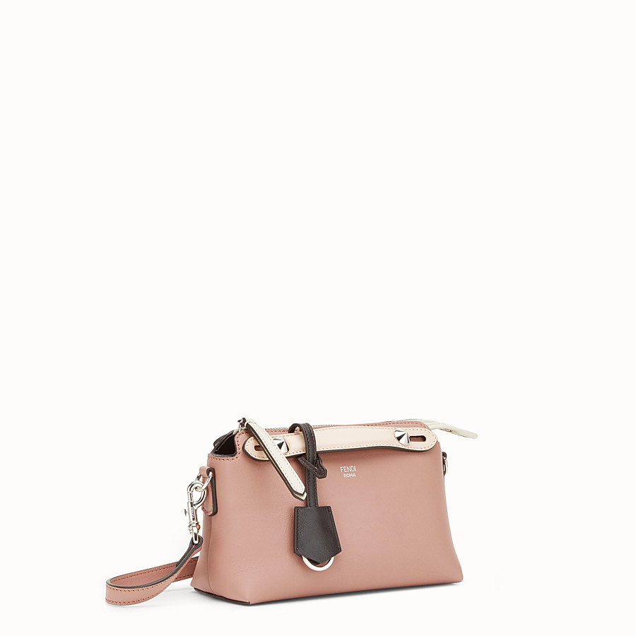 FENDI BY THE WAY MINI - Small pink leather Boston bag - view 2 detail