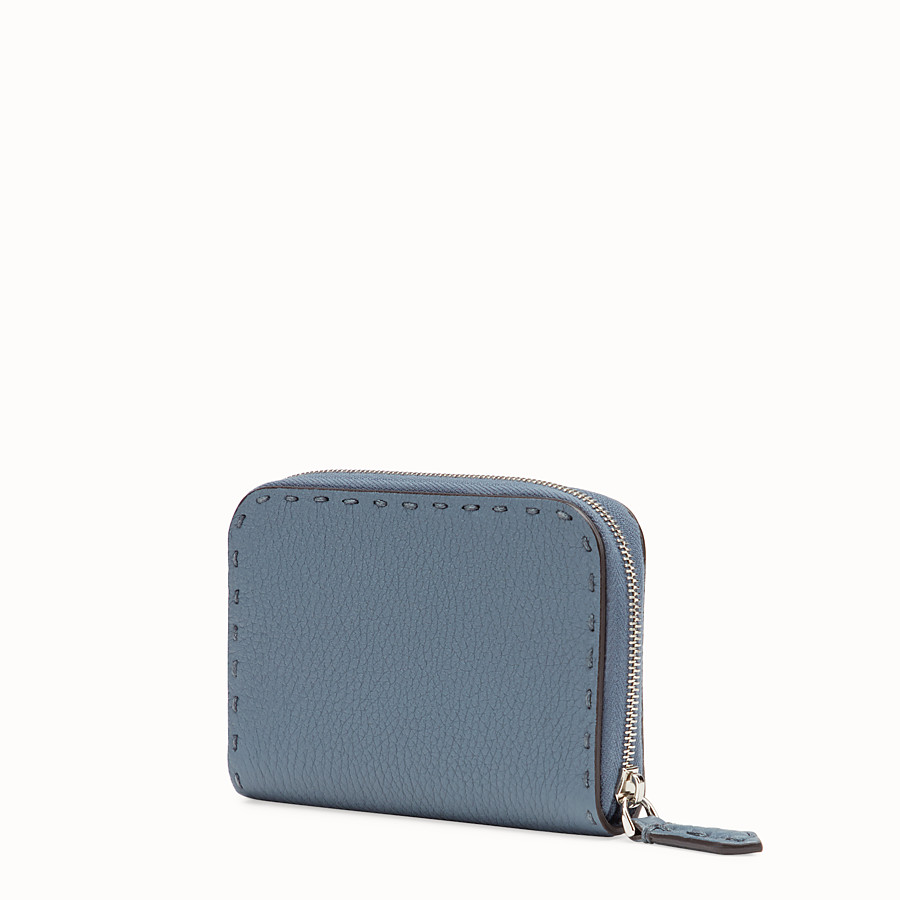 FENDI SMALL ZIP AROUND - Two-tone leather wallet - view 2 detail