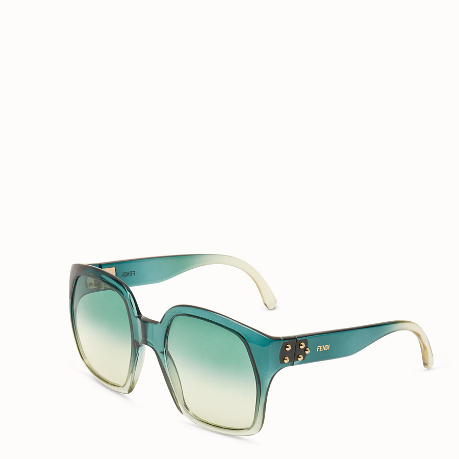FENDI FENDI DAWN - Green gradient effect injection-moulded sunglasses - view 2 detail