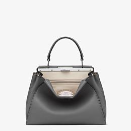 FENDI PEEKABOO ICONIC MEDIUM - Handbag in grey Roman leather - view 1 thumbnail