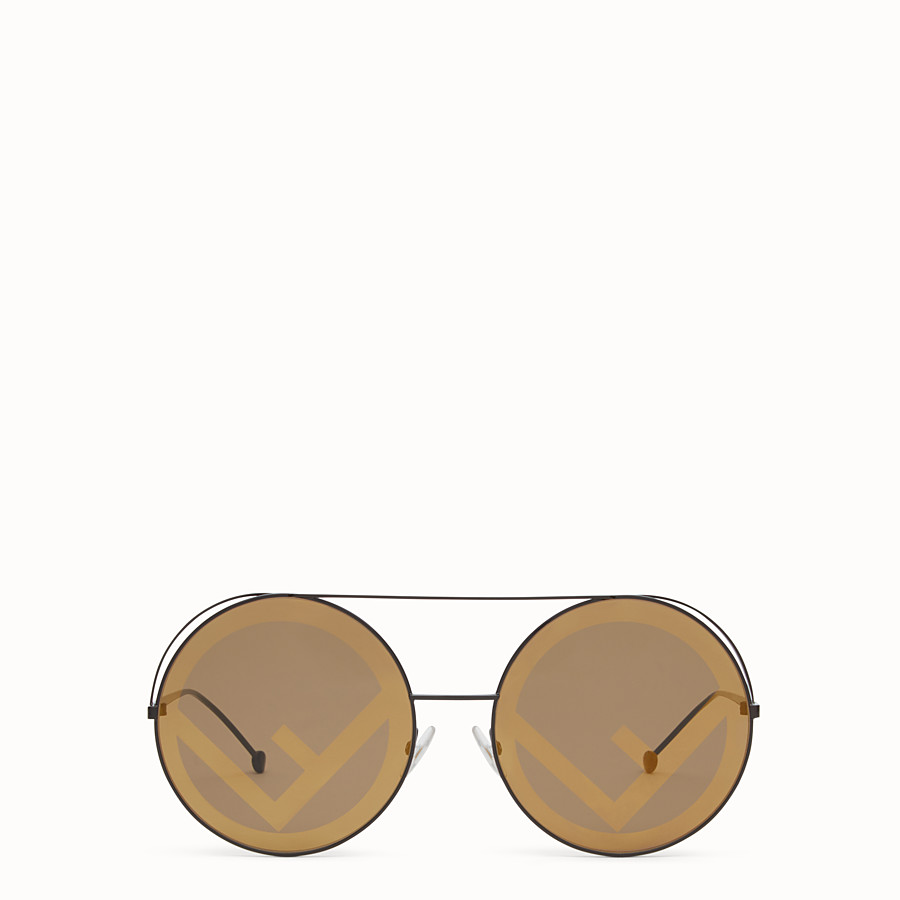 FENDI RUN AWAY - A/W17 Fashion Show brown sunglasses - view 1 detail