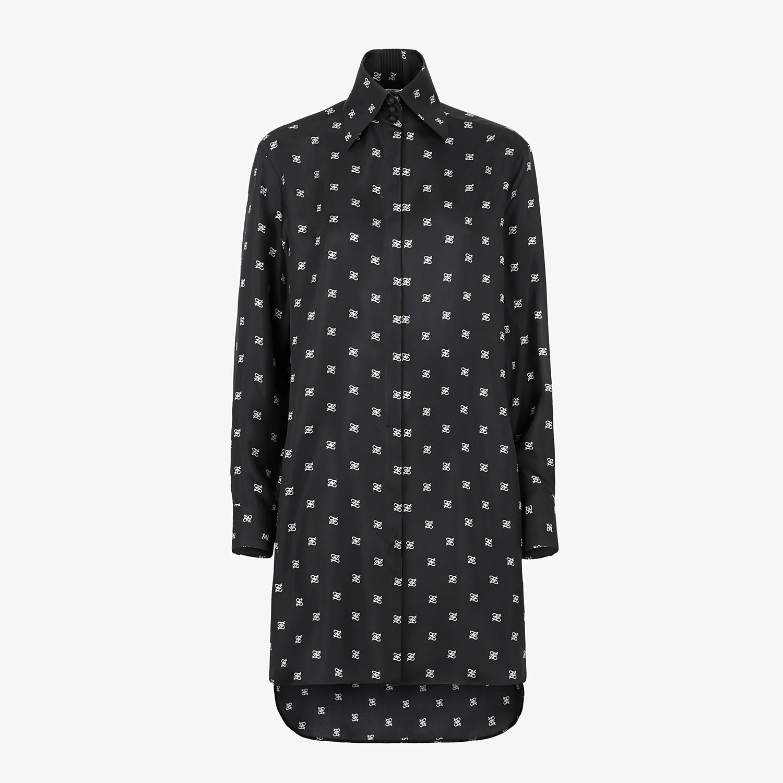 FENDI DRESS - Black twill dress - view 1 detail