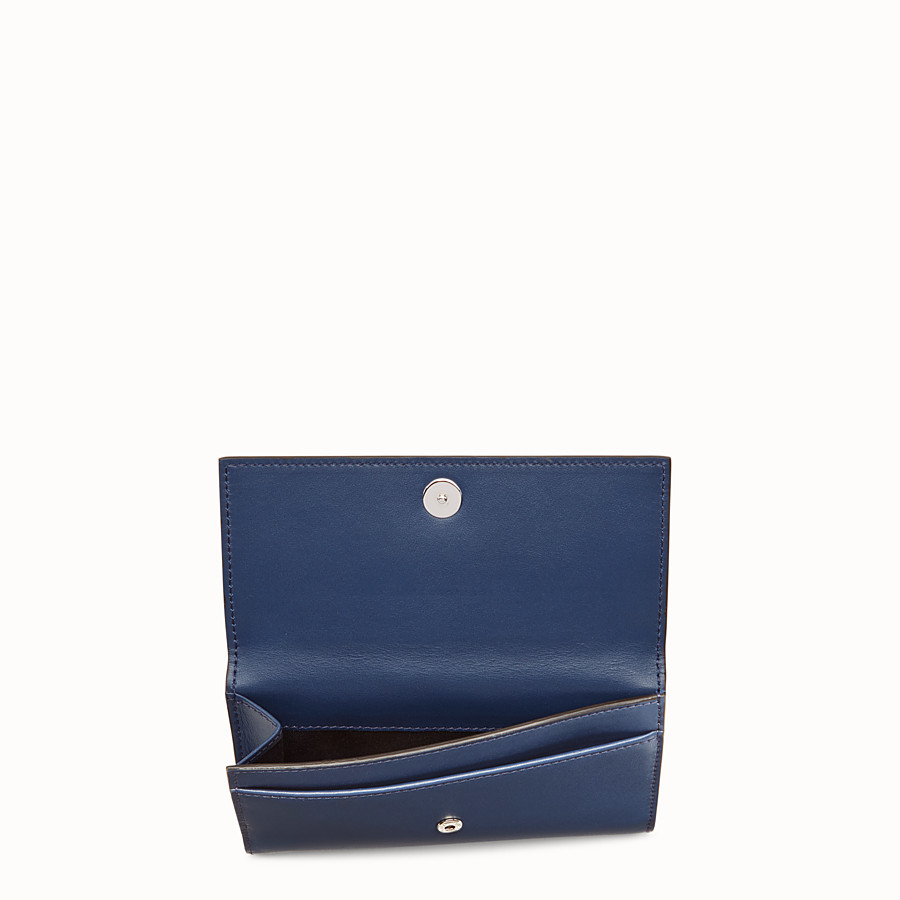 FENDI CONTINENTAL MEDIUM - Slim continental wallet in midnight-blue leather - view 4 detail