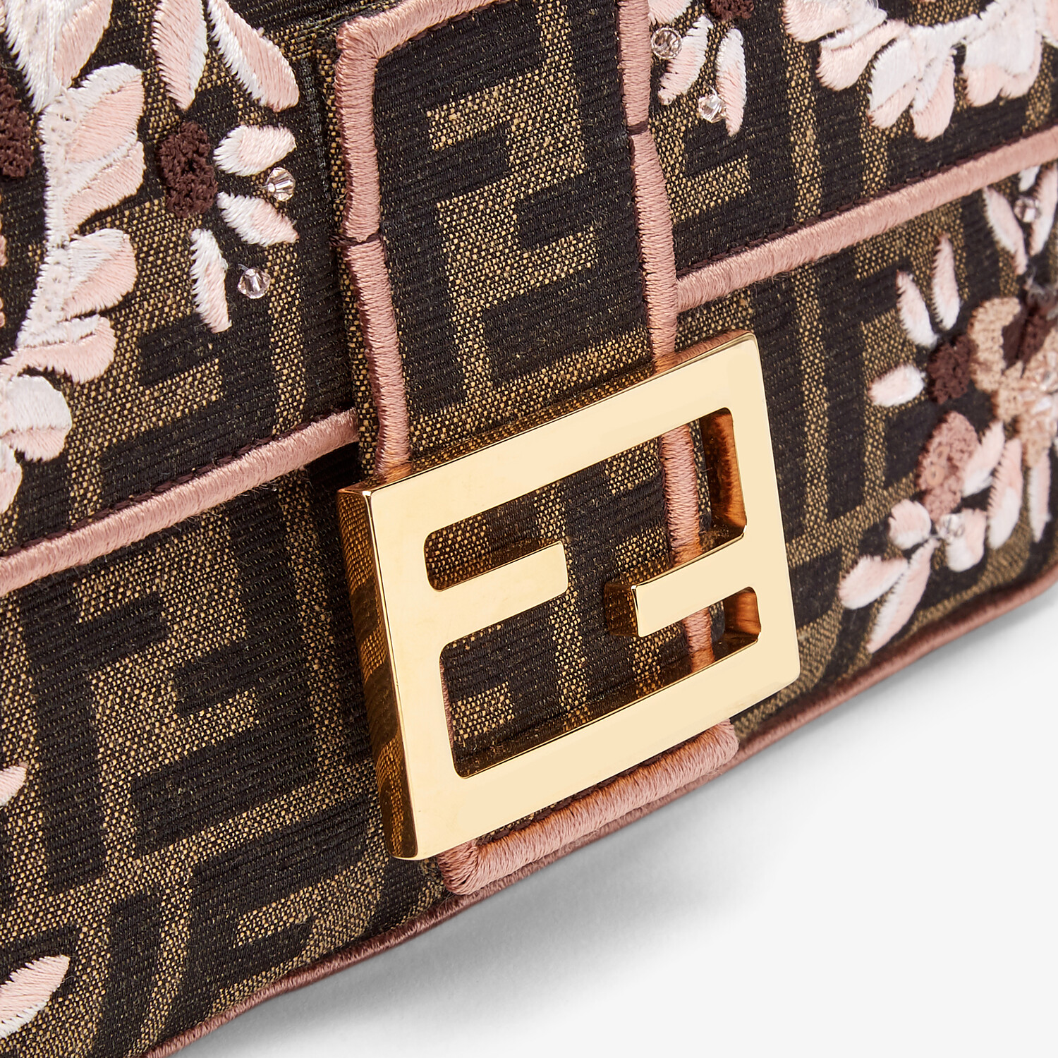 FENDI BAGUETTE - Embroidered FF fabric bag - view 6 detail