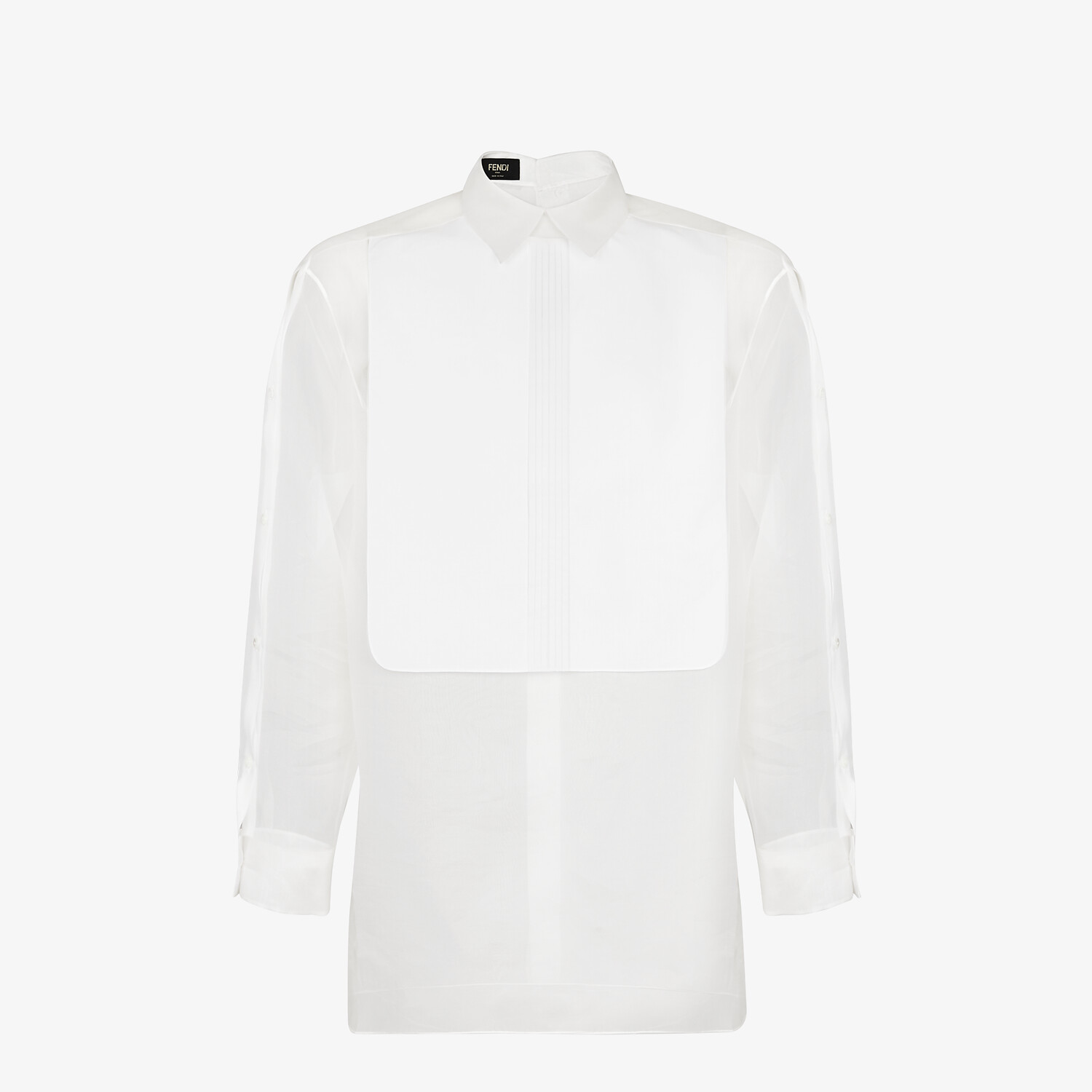 FENDI SHIRT - White organza shirt - view 1 detail