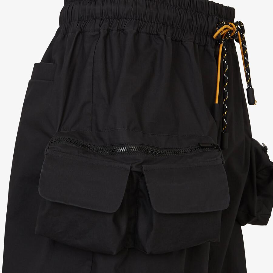 FENDI BERMUDAS - Black nylon pants - view 3 detail