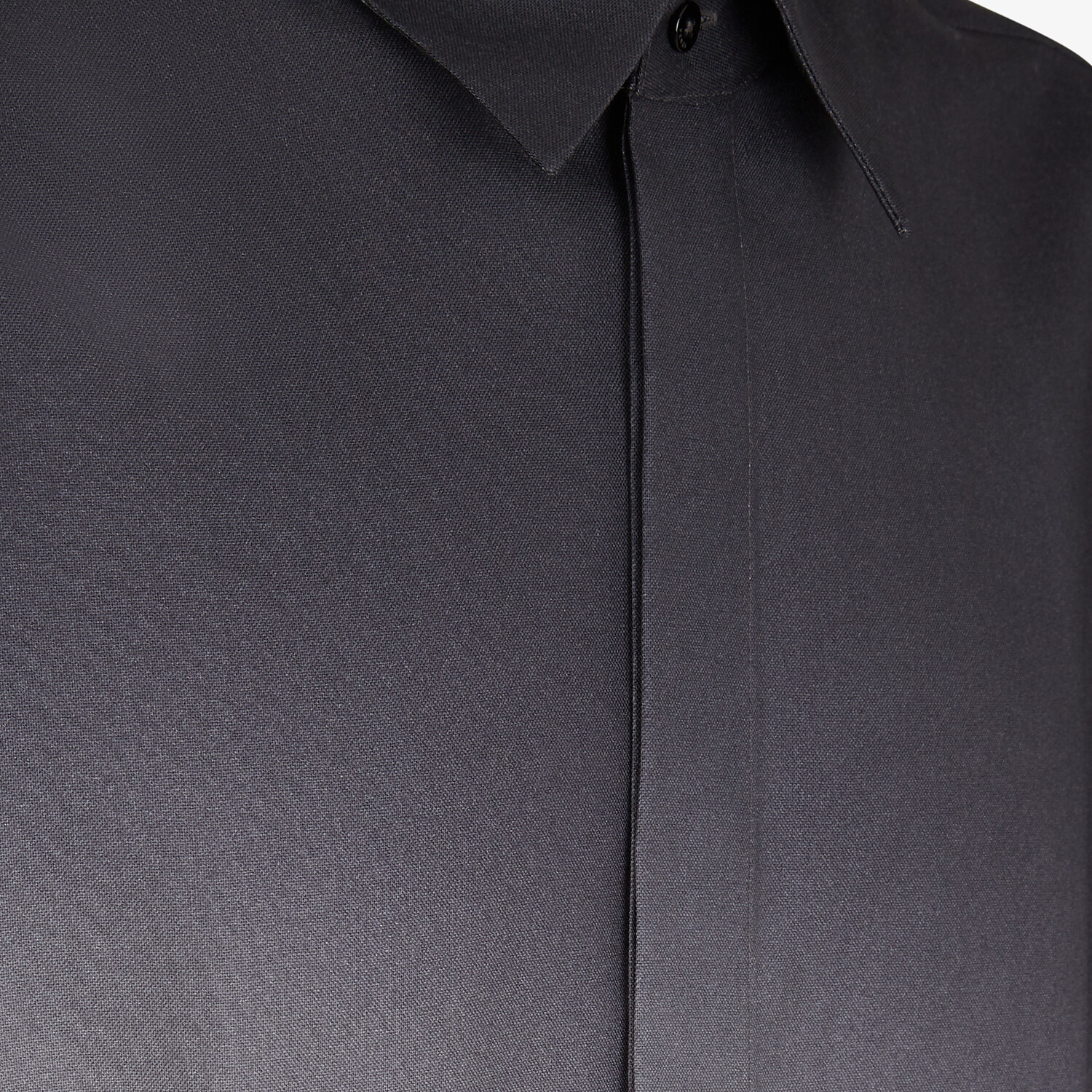 FENDI SHIRT - Black wool shirt - view 3 detail