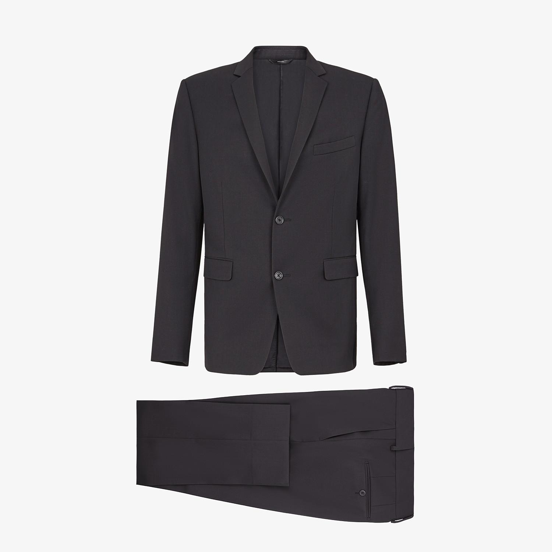 FENDI ABITO - Completo in lana nera - vista 1 dettaglio