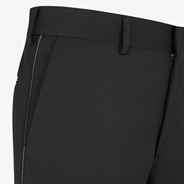 FENDI TROUSERS - Black wool trousers - view 3 thumbnail