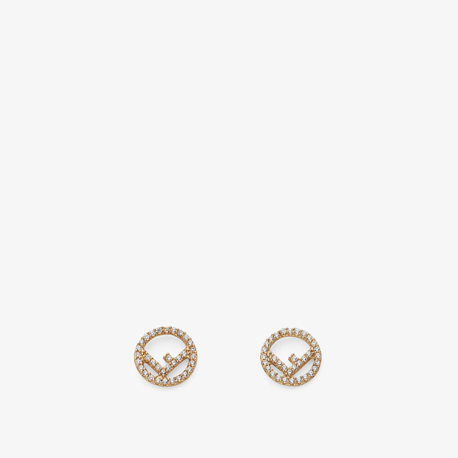 FENDI F IS FENDI EARRINGS - Gold color earrings - view 1 detail