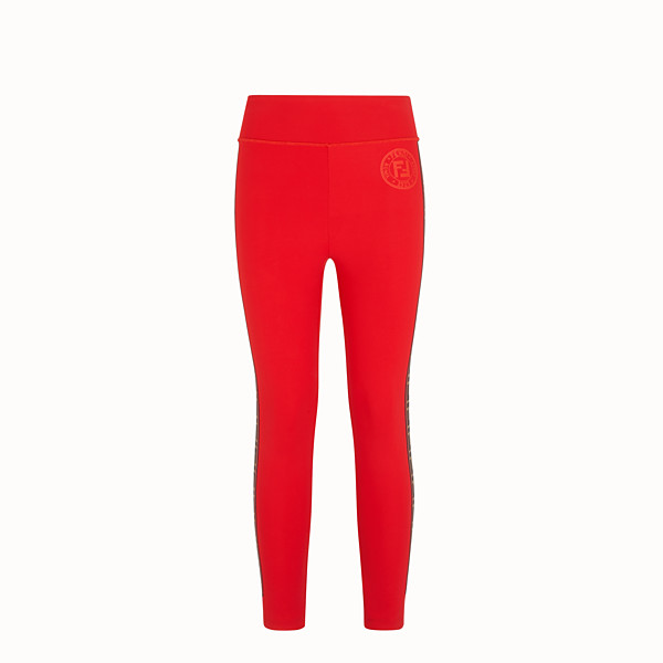 FENDI LEGGINGS - Leggings in red stretch fabric - view 1 small thumbnail