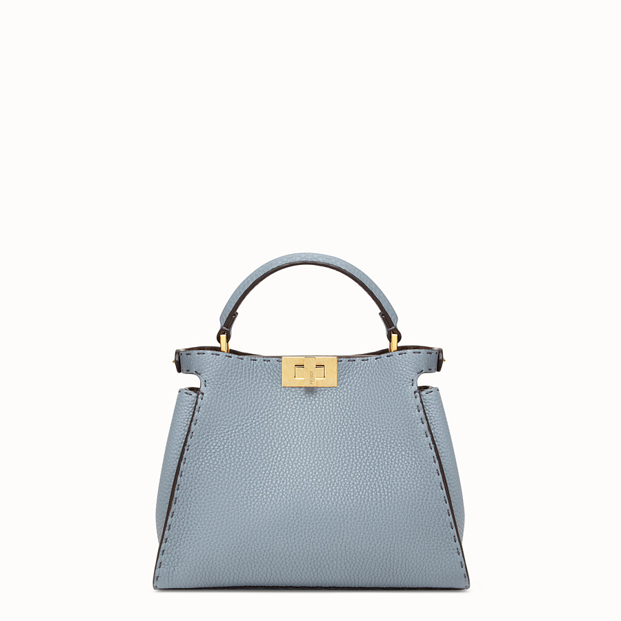FENDI PEEKABOO ICONIC ESSENTIALLY - Light blue leather bag - view 3 detail