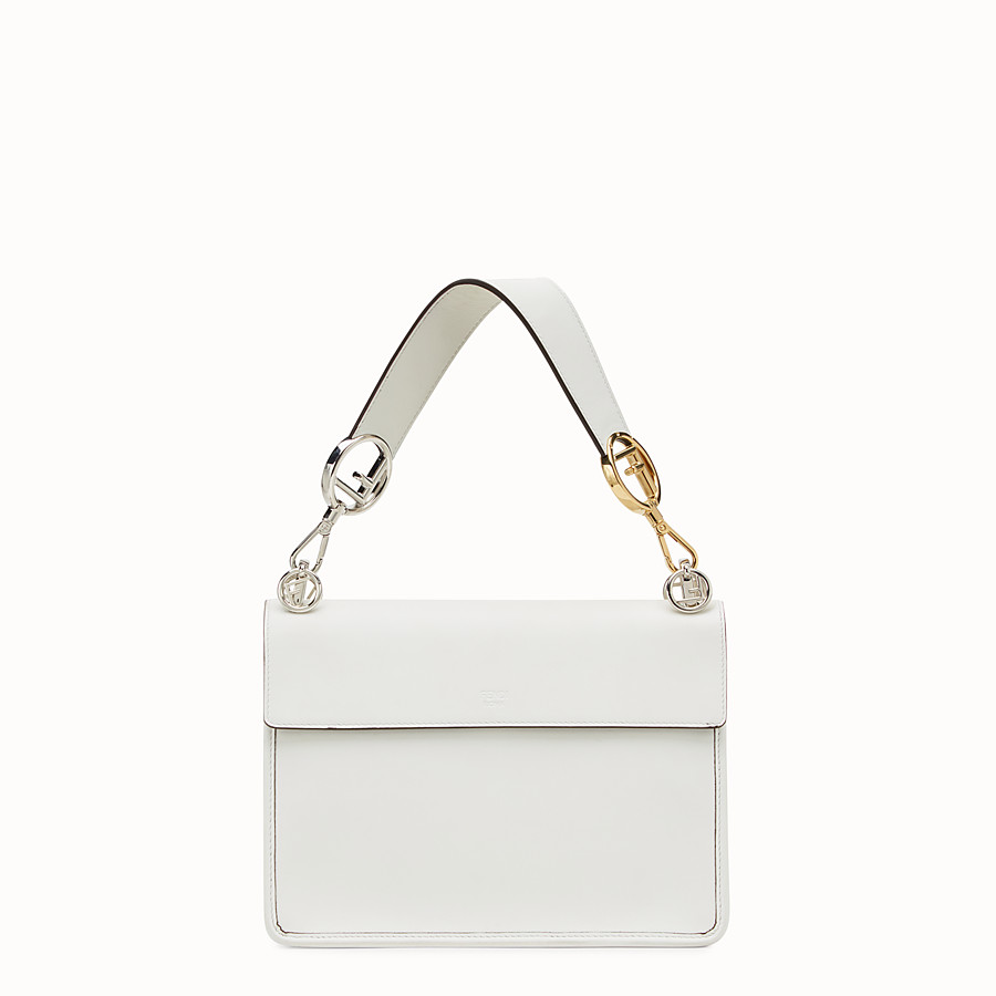 FENDI KAN I LOGO - White leather bag - view 3 detail