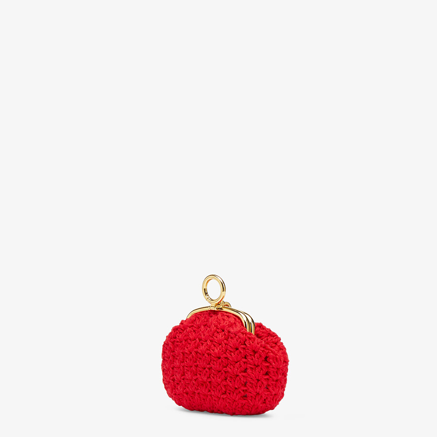 FENDI COIN PURSE - Red lace coin purse - view 2 detail