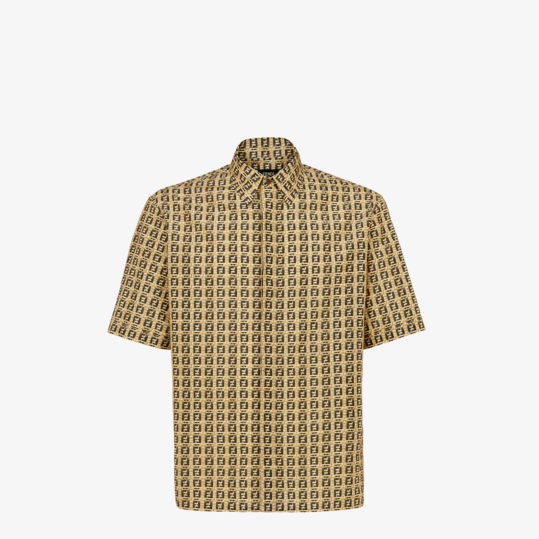 FENDI SHIRT - Beige viscose shirt - view 1 detail