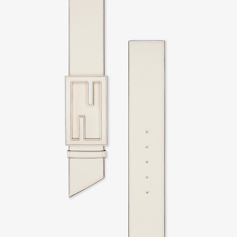 FENDI BELT - White leather belt - view 2 detail